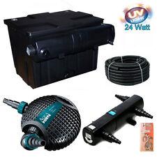 Bio-Teichfilter Komplettset mit UV-C 24w und Aquaforte Pumpe O-8500  -16000L TOP
