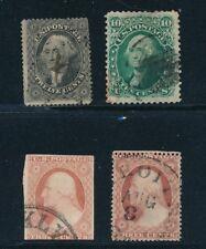 U.S. #11, #26, #36, #68 (1855-1862) USED; CV $380
