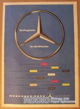 Mercedes-Benz '50s car automobile German PRINT AD advertisement 9x13 vtg 1957