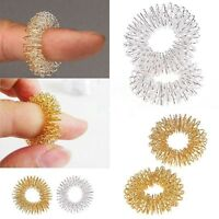 Trendy Finger Massage Shape Ring Acupuncture Tool Health Care Body Massager SLCA