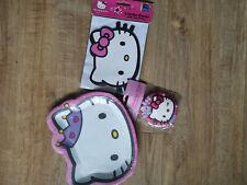 Hello Kitty Birthday Party Set 8 Plates, Badge And 6 Invites Pink.