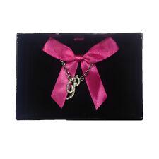 Collana iniziale P con strass in acciaio 40 cm con scatolina regalo by VIRCA