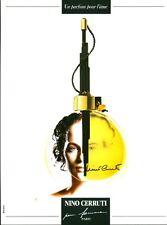 Publicité ancienne Parfum Nino Cerruti pour femme non parfumé