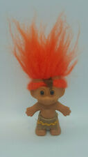"Vintage 3"" Native American Troll Orange Hair"