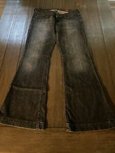 X2 Express Quality Denim Women's Jean's Full Length Size 8 Embroidered