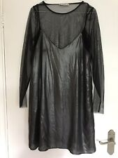 Pull And Bear A Line Dress With Shear Long Sleeve Top Under. Size L