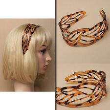 Hair Alice Band Headband Women Hairband Hoop Knot Twist DIY Tort Wide Teeth Kids