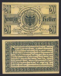 Austria - 20 Heller Lagergeld Mauthausen 1915 (18) Fds Unc- B-09