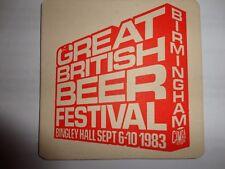 Beer drinks mats drip coaster 1983 CAMRA BINGLEY HALL BIRMINGHAM BEER FESTIVAL