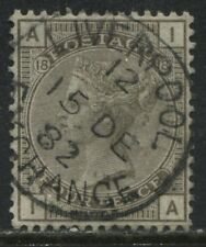 GB 1881 4d gray brown Plate 18 lettered IA superb used with Liverpool 1882 CDS