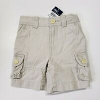 New with tag NWT Boys RALPH LAUREN Beige POLO Carpenter Chino Summer Shorts 12M