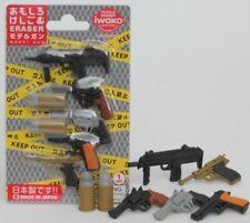Iwako 8 style of Model Guns Japanese Erasers (7 pieces)