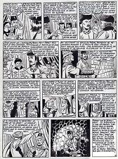 FULGOR (BILD) SUPERBE  PLANCHE ORIGINALE ARTIMA  ANNEES 1950 PAGE FIN