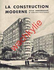 La construction moderne 02/12/1934 Architecture Cité hospitalière Lille