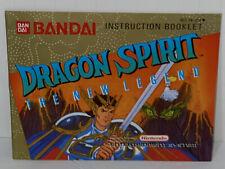 Dragon Spirit The New Legend Nintendo Instruction Manual Booklet NO NES Game