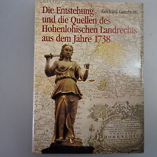 ....Quellen des hohenlohischen Landrechts aus dem Jahr 1738 (42069)