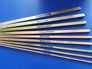 KEY STEEL - ZINC PLATED - METRIC SIZES 300mm long - 4mm 6mm 8mm 10mm 12mm 16mm