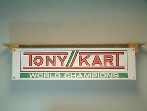 Tony Kart Banner Workshop Garage Display Go Kart Track Racing Motorsport