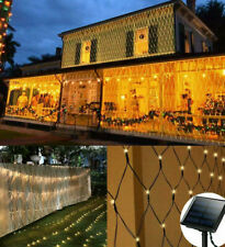 Solar LED Net Light Mesh String Fairy Lights Outdoor Home Garden Party Lamps