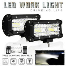 7 Inch 400W LED Work Light Bar Flood Spot Combo Offroad Truck Driving Fog Lamp