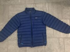 Patagonia Kids Down Sweater Jacket Size XL-14 Blue