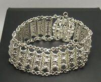 Echtes Sterling Silber großes Armband massiv punziert 925 handgefertigt