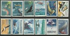 AUSTRALIAN ANTARCTIC TERRITORY 1973 EXPLORERS & FOOD CHAIN 12v Mint Never Hinged
