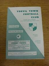 15/09/1965 Yeovil Town v Corby Town  . Item in very good condition, unless state