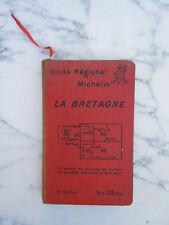 Guide régional Michelin LA BRETAGNE 2è édition 1928-29