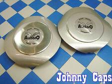Alessio Wheels Silver Center Cap #ALESSIO Custom Wheel Good Silver Caps (2)
