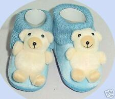 NEW Infant/Baby shoes/boots, teddy bear, blue, 6-9month