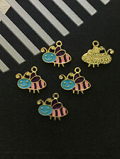 5PC Tibetan Gold(  bees pendant )Bead Charms Accessories wholesale PJ1638