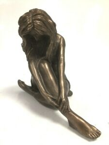 Pre-Owned Frith Sculpture Beautiful Bronze Figure Woman Art In Good Condition