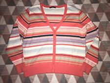 LADIES M AND S COLLECTION STRIPED STRETCHY RIBBED JUMPER 20 22 24 BNWT