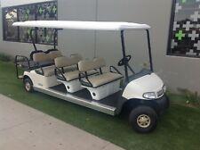2010 EZGO RXV 8 passenger seat limo golf cart white 48V AC