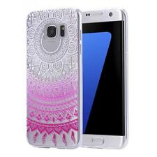 Samsung Galaxy J5 funda de gel TPU protectora Case mandala transparente Clear