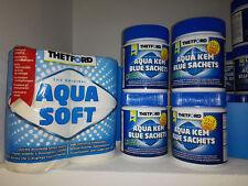 Set 72 sacchetti THETFORD Aqua Kem Blue Sachets + 4  Aqua Soft Offerta!!