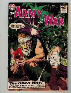 DC OUR ARMY AT WAR #88 NOV 1959 THE NEW SGT ROCK &  EASY CO. VF WAR THE HARD WAY