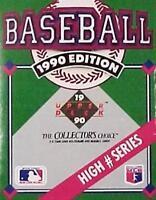 1990 Upper Deck Baseball Card High Series Set Factory Sealed 100 Cards Number