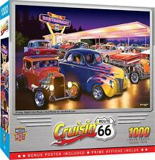 Cruisin Route 66 Friday Night Hot Rods 1000 Piece Jigsaw Puzzle