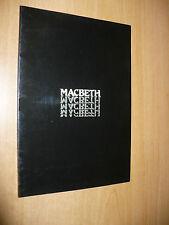 TEATRO MANZONI PROGRAMMA MACBETH VITTORIO GASSMAN ANNAMARIA GUARNIERI L.VIRGILIO