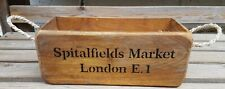Rustic Antique Vintage Style SPITALFIELDS With Rope Handles Wooden Boxes Crates