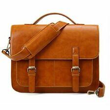 ECOSUSI Messenger Bag (PU-Leather) Briefcase Shoulder Bag (Brown)