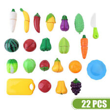 Kids Pretend Play Kitchen Fruit Vegetable Food Toy Cutting Set Gift Role HOTSale