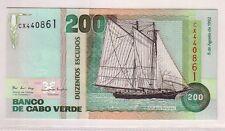 Capo Verde Cape Verde 200 escudos 1992  FDS UNC pick 63 lotto 2620