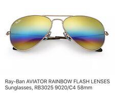 Ray Ban Aviator RainBow Flash Lens  3025 9020/C4 58mm