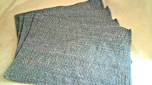 """Sonoma 100% Cotton Blue/Cream Weave Placemats Set 4 Bd Ends 17.5 x 13"""" MWash NEW"""
