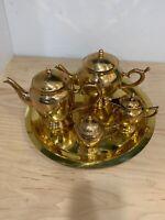 Vintage Brass 5 Piece Coffee/Tea Serving Set