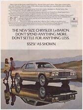Original 1978 Chrysler LeBaron Coupe Vintage Print Ad