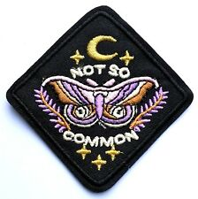 Moth Gold Moon Not So Common Embroidered Patch Applique Iron On